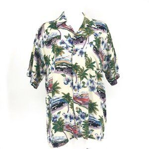 Island Collection Hawaiian Vintage Shirt Cars Trop